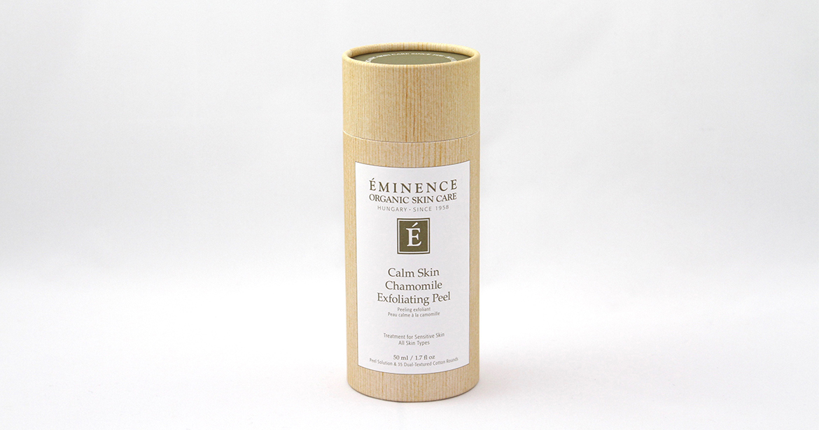 great picture of custom eco-friendly paper tube packaging for Eminence Organic Skin Care