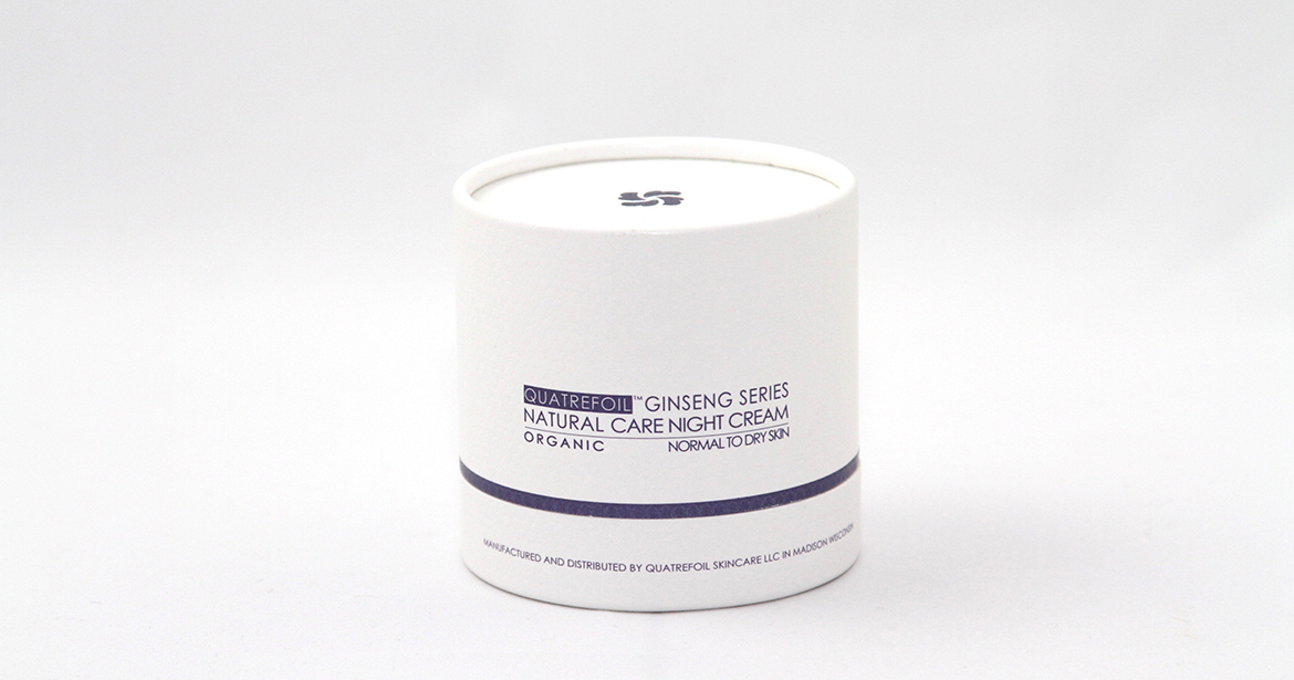 beautiful picture of quatrefoil ginseng series organic night cream in paper tube packaging