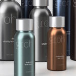 Customized stock aluminium bottles and caps for haircare with silk screen decoration by BIG SKY PACKAGING.