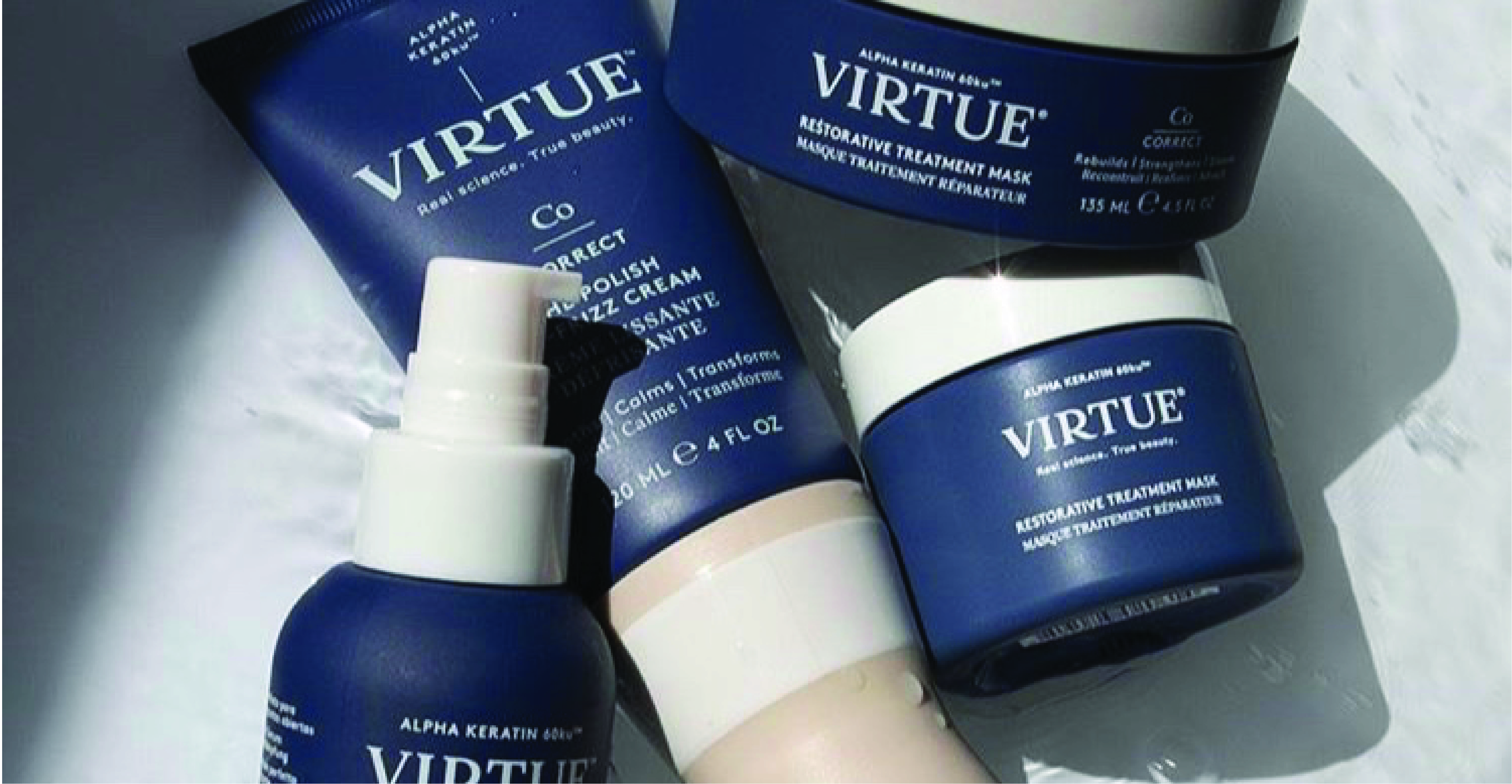 beautiful soft touch finish custom packaging for virtue hair care