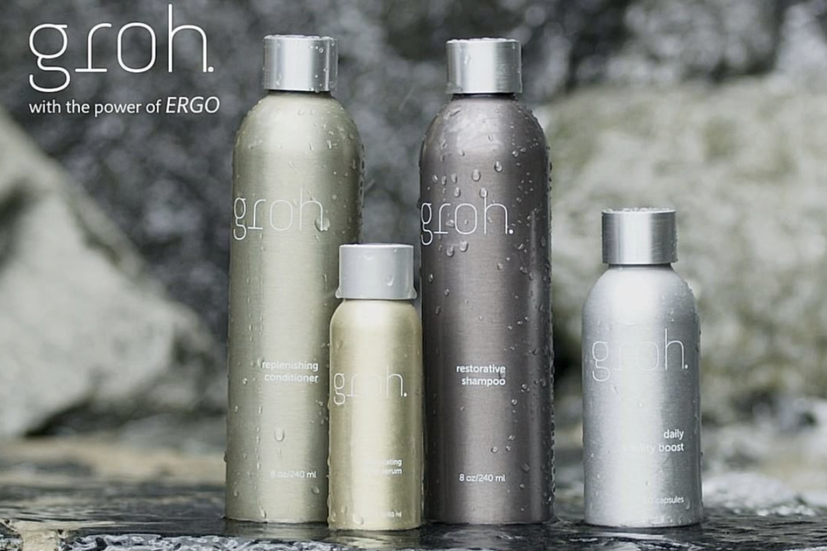 Examples of custom aluminium bottles for haircare.