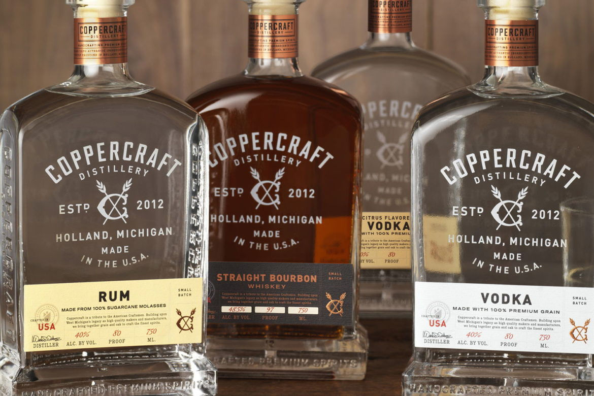 Custom closure for Coppercraft Distillery manufactured by Big Sky Packaging.