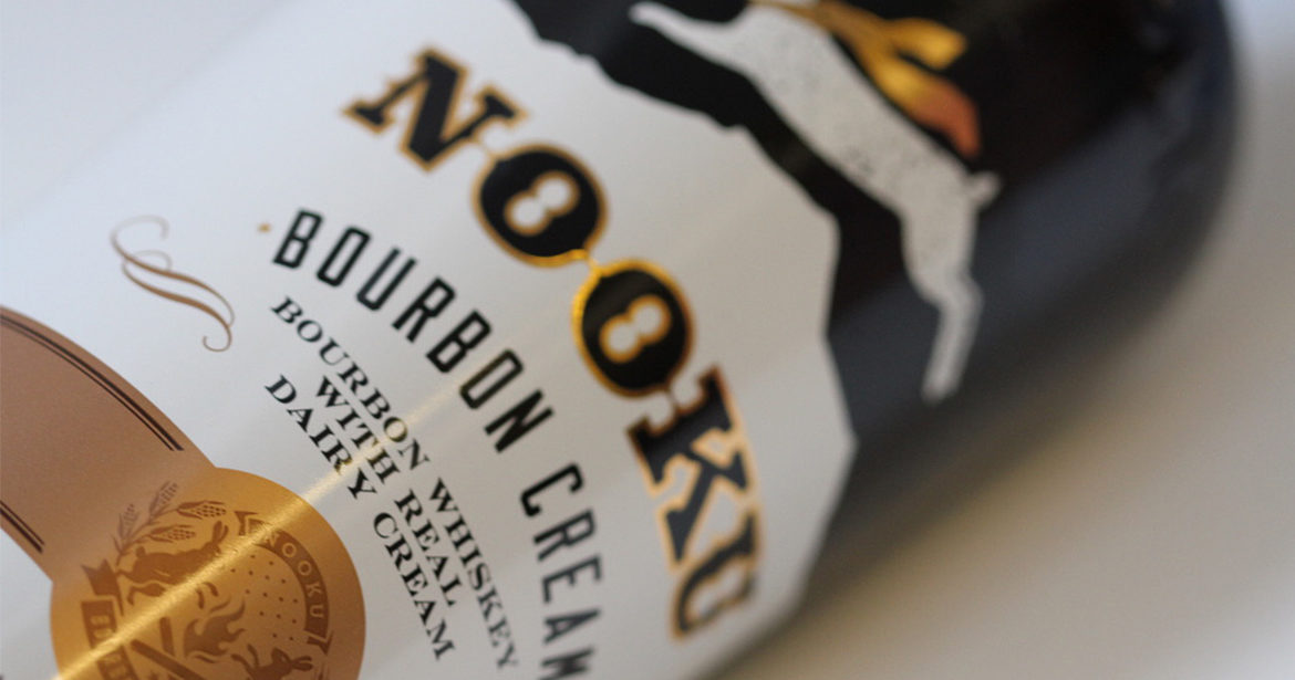 Great example of level of decoration on Nooku Bourbon Cream's bottle.