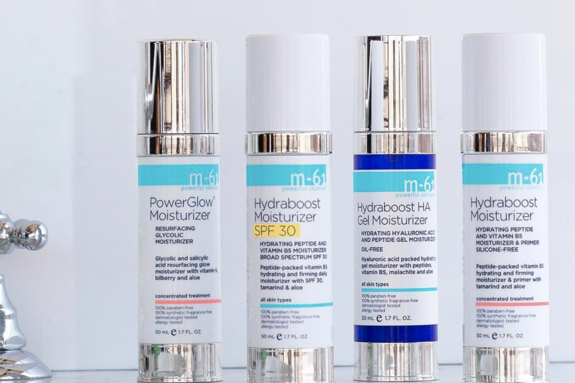 great example of customized stock airless packaging by bluemercury m61 hydraboost