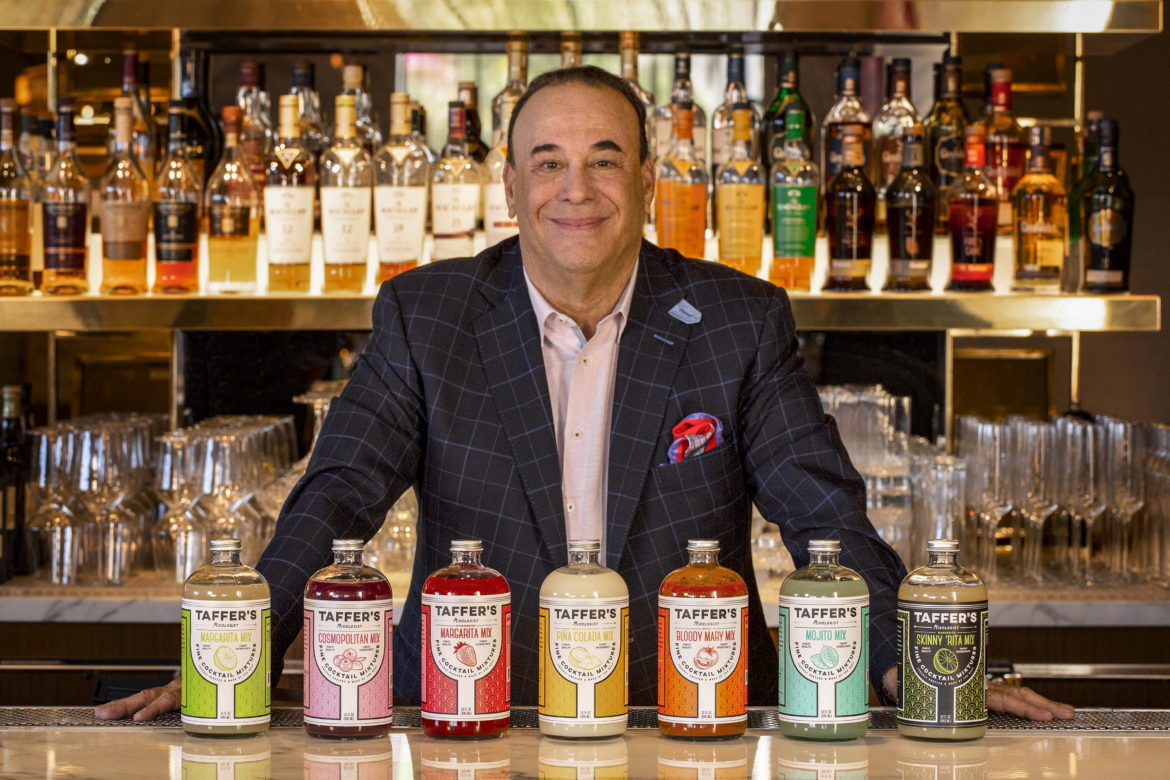 beautiful example of customized spirit and drink packaging for Jon Taffer's mixologist line