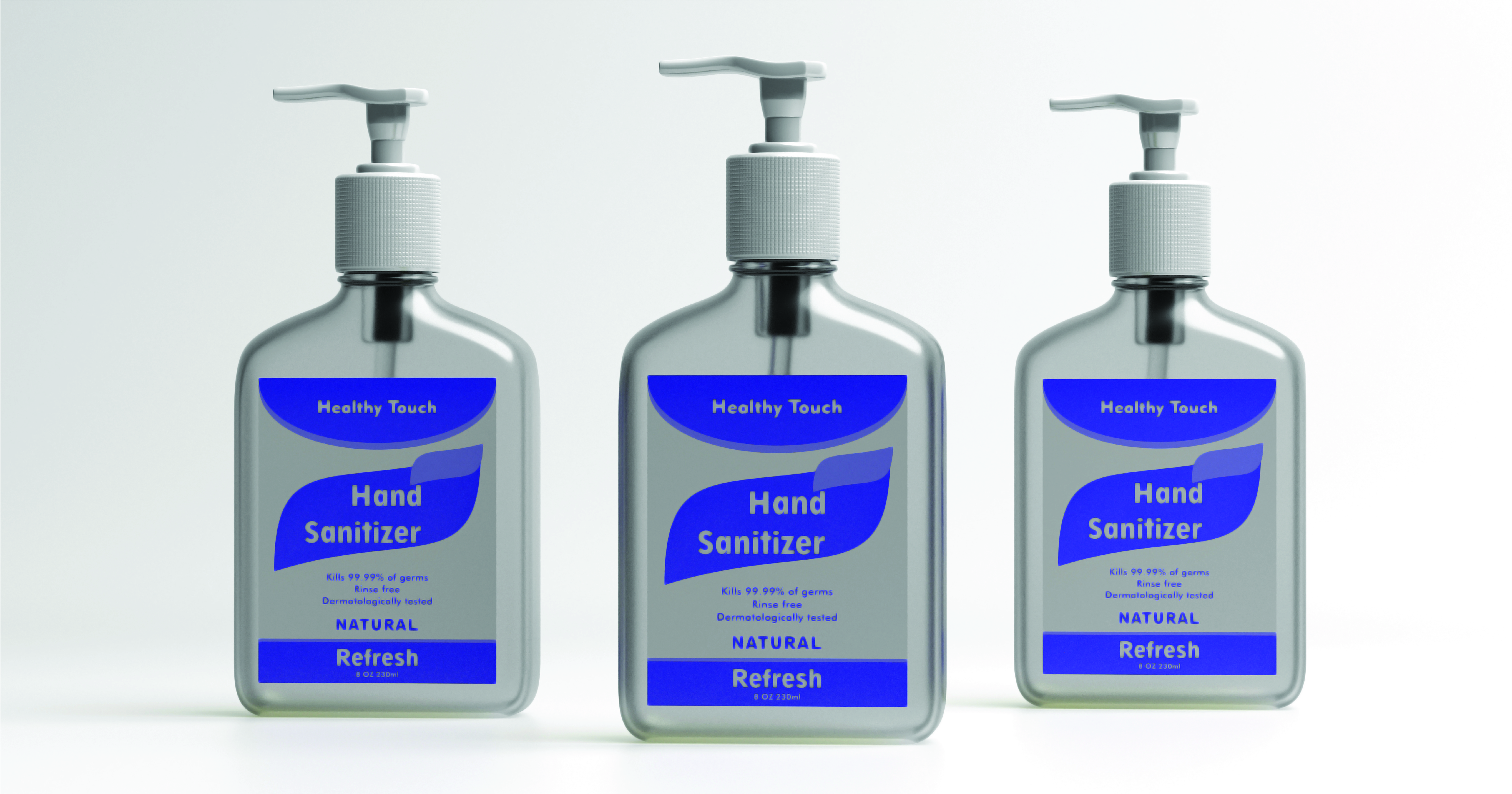 create antibacterial and sanitizer packaging solutions