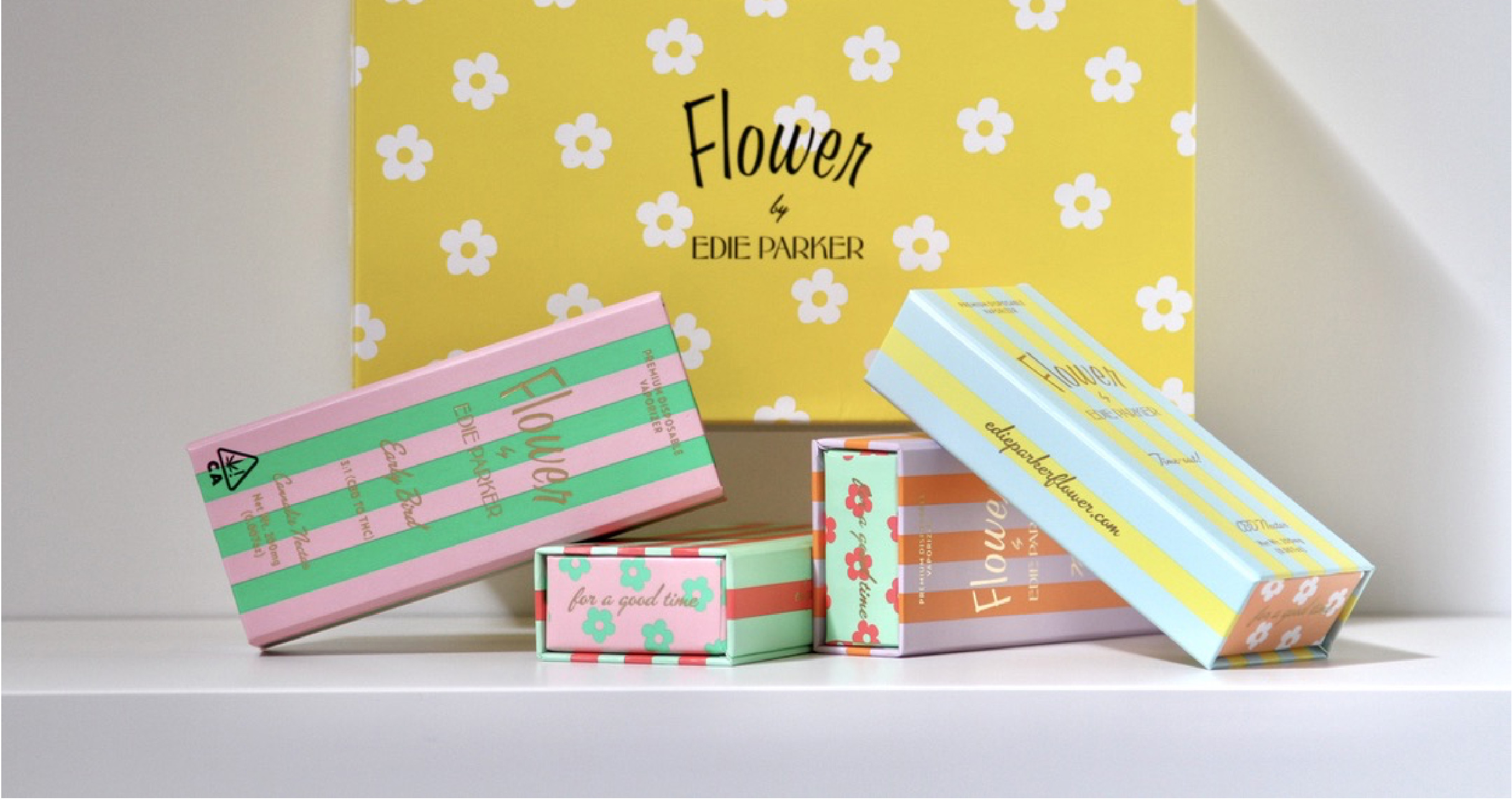 timeless custom cannabis cbd retail and ecommerce ready boxes for Edie Parker